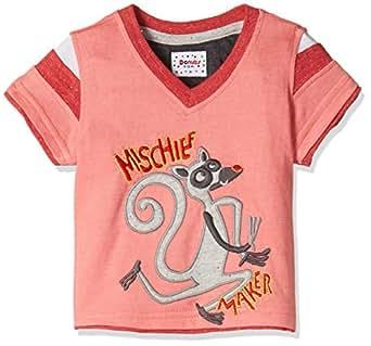 Donuts Baby Boys' T-Shirt (268122973_Coral_12M)