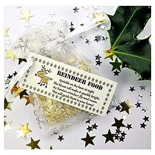 Magical Reindeer Food -Biodegradable Magic Glitter Dust Oats - Father Christmas Eve- Kids Craft Activity Tradition Handmade Rudolph B1