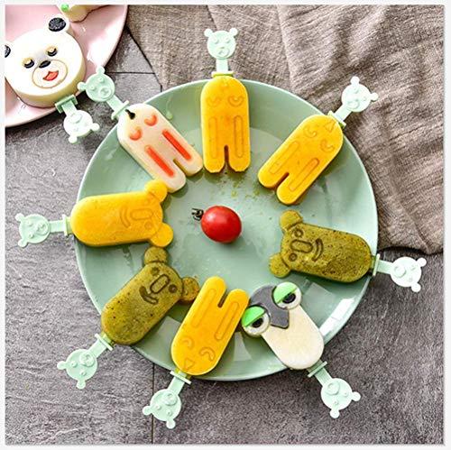 BOOMING Süße Food Grade Silikon Popsicle Mold gefrorenes EIS Lolly Mold Tray Pan Eismaschine Werkzeug - Schenken Sie Ihrem Kind einen wunderschönen Sommer-(Bär, Koala, Kaninchen, Eule) Kaninchen