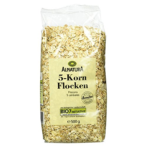 Alnatura Demeter Bio 5-Korn-Flocken, 6er Pack (6 x 500 g) -