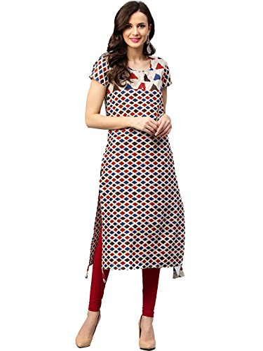 TheUrbanStreet Multicolored Women's Cotton Printed Straight Kurti