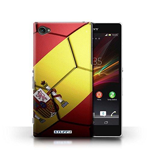Kobalt® Imprimé Etui / Coque pour Sony Xperia Z1 Compact / Portugal conception / Série Nations de Football Espagne/Espagnol