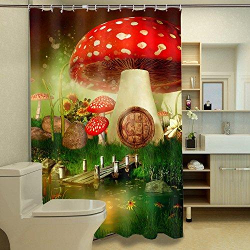 Duschvorhänge anti schimmel,Wasserdicht Comic-bilder Polyester Duschvorhänge textil Liner Für bad kinder-B 65x71inch
