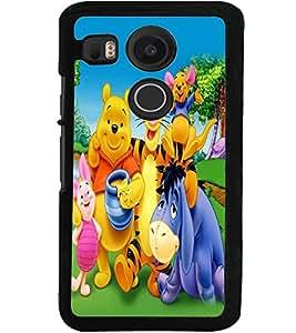 ColourCraft Cartoon Family Design Back Case Cover for LG GOOGLE NEXUS 5X