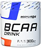 Bodylab24 BCAA Drink, Aminosäure Pulver, Geschmack: Orange, Leucin, Isoleucin und Valin im Verhältnis 2:1:1, hochdosiertes BCAA Pulver zum Muskelaufbau, 300g Dose