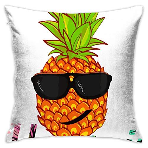 Hunter qiang Hawaii Ananas Kopf mit Sonnenbrille Home Dekorative Dekokissen Cases Kissen Kissenbezug Abdeckung 45x45 cm für Wohnzimmer Schlafzimmer Auto
