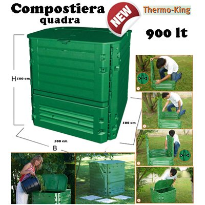VERDEMAX 2895 900 L 100 x 100 x 100 cm Thermo King Compostiera