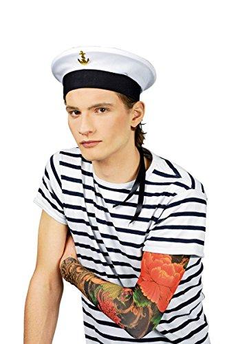 Kostüm Zubehör Bootsmann Mütze zum Matrosen Karneval Fasching