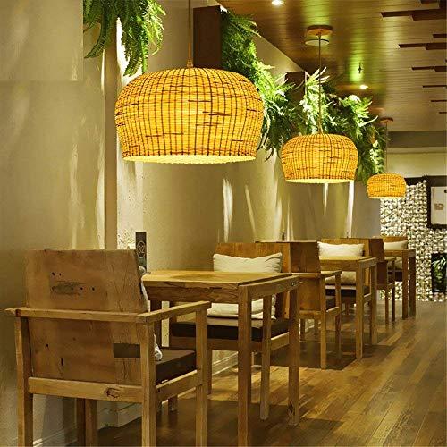 ZXDD Pendelleuchten Kronleuchter Deckenleuchten, Schlafzimmer Wohnzimmer Lounge Deckenventilator Retro Antik Blatt Holz mit LED Fan Licht, Kronleuchter Kristall -