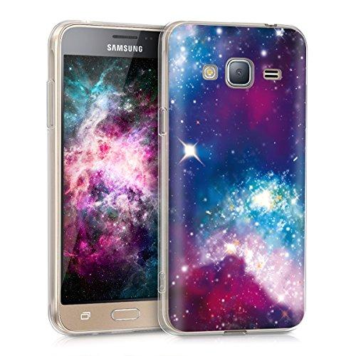 kwmobile Samsung Galaxy J3 (2016) DUOS Hülle - Handyhülle für Samsung Galaxy J3 (2016) DUOS - Handy Case in Mehrfarbig Pink Schwarz