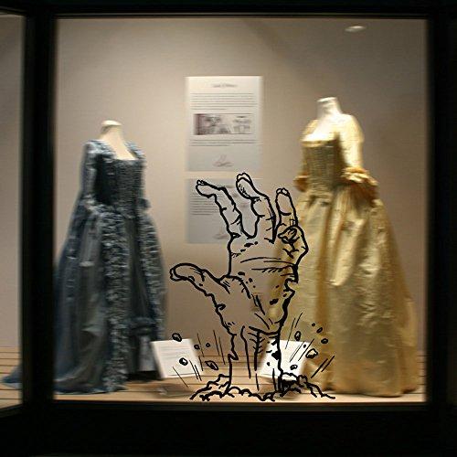 Seguire Halloween-Thema Hand ragte aus dem Boden Glasfenster Wand-Aufkleber-Dekor-Abziehbild Wandtattoo Wandsticker Wandaufkleber Wanddeko (Fußball-party-thema Dekor)