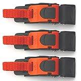 Lot de 3 attaches à ouverture rapide pour casque de moto et VTT