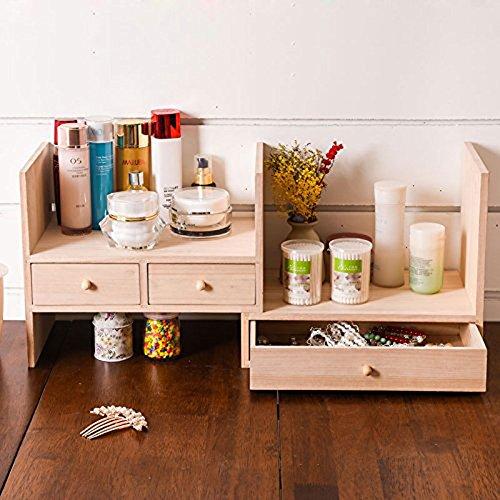 Mack-up-Kreativtisch, Massivholz-Desktop-Kosmetik-Box, Lagerregal, Bibliothek Regal Groß - Bibliothek Regale