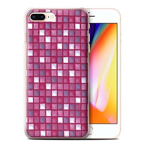 Stuff4 Hülle / Case für Apple iPhone 8 Plus / Pack (15 Modelle) / Bad Fliesen Kollektion Rosa