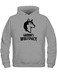 Sudadera con capucha Groom's Wolfpack by Shirtcity