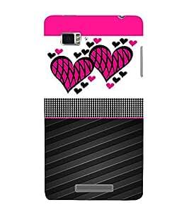 Creative Heart Design 3D Hard Polycarbonate Designer Back Case Cover for Lenovo Vibe Z K910