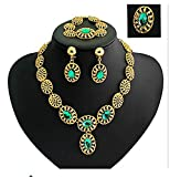 GYJUN Vintage / Party - Damen - Halskette / Ohrring / Armband / Ring ( Vergoldet / Legierung / Zirkonia ) , 8