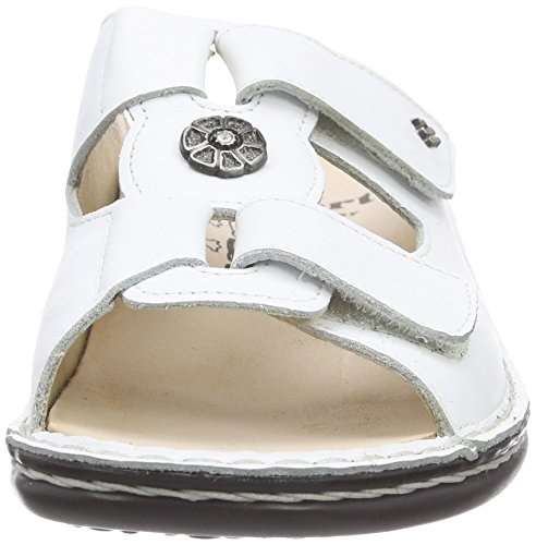 Finn Comfort Pattaya, Sandales ouvertes à talon compensé femme Blanc - Blanc