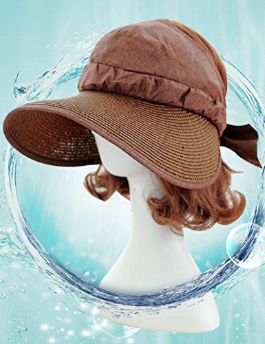 Chapeau de soleil d'été Femme été pliable à l'extérieur Crème solaire Chapeau de pêche chapeau de soleil Monter un chapeau sec Pour les voyages de plage sortants ( Couleur : 6 ) 3