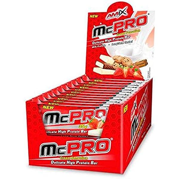 McPRO PROTEIN BAR 24*35 GR Fresa-yogurt: Amazon.es: Salud y ...