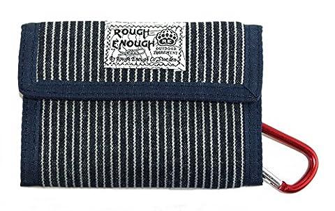 Rough Assez vintage décontracté Toile Portefeuille (Denim Rayures bleues), Denim Blue Stripes