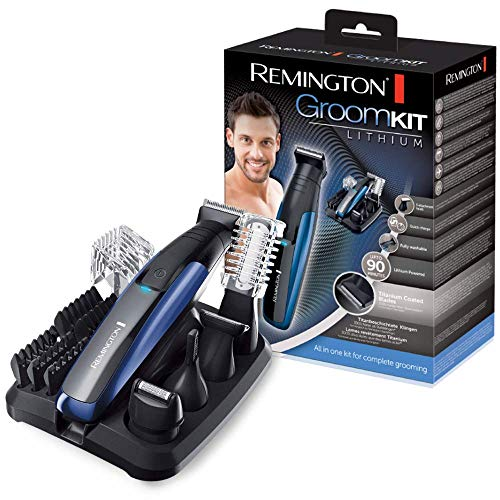 Remington Kit Lithium PG6160 - Set Recortador Multifunción, Barba, Vello Corporal, Nariz y Orejas...