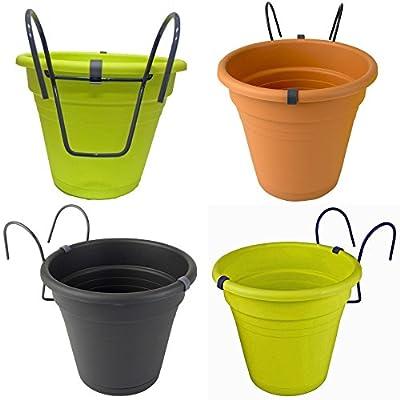 2er Set Hängetopf Blumentopf Kräutertopf aus Kunststoff für Balkon, Zaun und Garten von K7plus® bei Du und dein Garten
