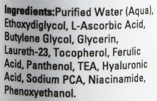 Vitamin-C Serum für das Gesicht mit Hyaluronsäure Antioxidationsmittel-Sonnenflecken - Gesichtsserum mit Vitamin C, B, E, Ferulasäure - Klinisch wirkungsvolles 20{9b068501ae6284032e02f5872388dd0de1c818c1b32c057aeae7ee4ef05e28b7} Vitamin C für eine makellose und hydratisierte Haut 30ml