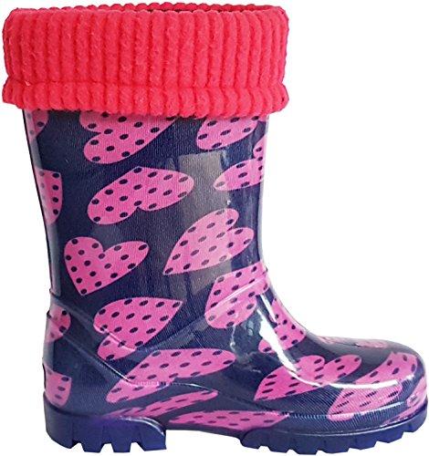 Demar ,  Unisex Kinder Arbeits-Gummistiefel rosa / purpur