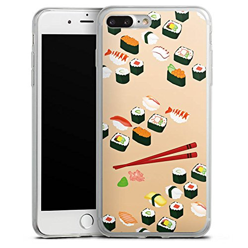 Apple iPhone 8 Slim Case Silikon Hülle Schutzhülle Sushi Essen Fastfood Silikon Slim Case transparent