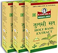 Dr Alfred James Tulsi Sat Drops Organic Natural 20 Ml (Pack of 3)