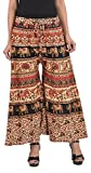 MIRAV FASHION Cotton Printed Stylish Multicolour Plazzo Pants For Women/girls (Assorted Colour & Assorted Design) (Brown)