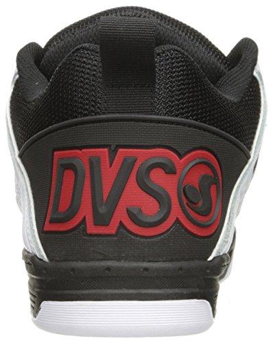 DVS Comanche, Chaussures de skateboard homme Noir (Black White Red Leather)
