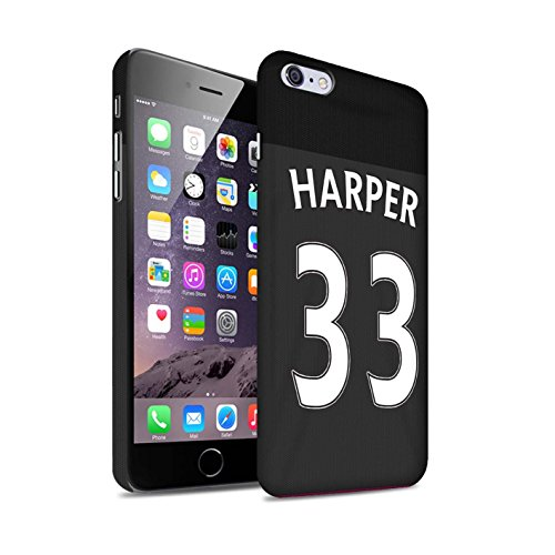Offiziell Sunderland AFC Hülle / Matte Snap-On Case für Apple iPhone 6S+/Plus / Pack 24pcs Muster / SAFC Trikot Away 15/16 Kollektion Harper