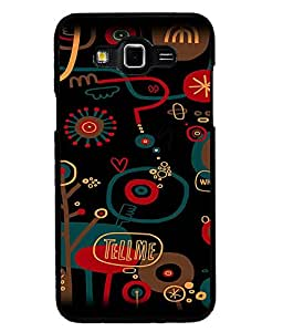 Fuson Premium Tell Me Metal Printed with Hard Plastic Back Case Cover for Samsung Galaxy Grand 3 G7200 G7202