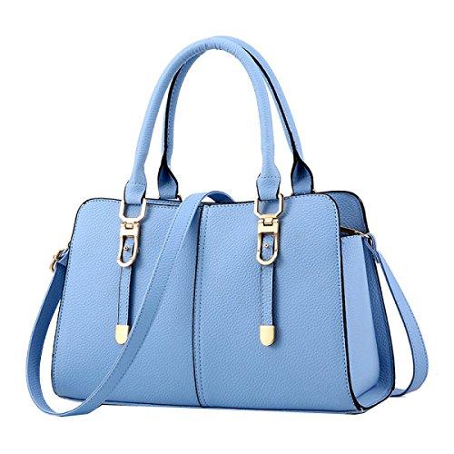 Yy.f Handtaschen Neue Beutel Süße Art Und Weisehandtaschen Kurierbeutel-Schulterbeutel Mehrfarbig Blue