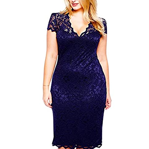 CHIC-CHIC Women's Cocktail Ceremony Dress Large Blue