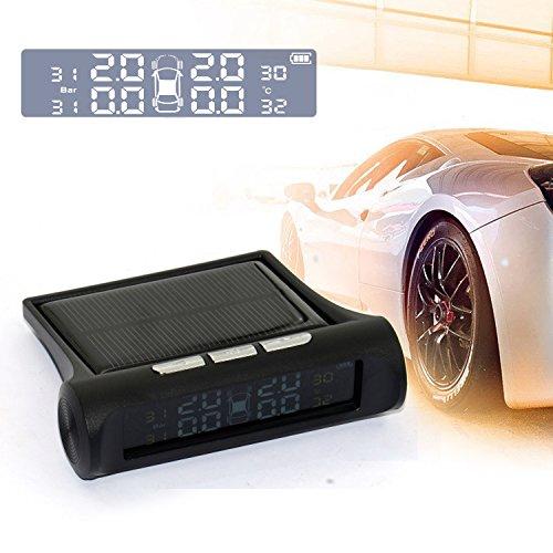 Smart Auto TPM, SinStar Reifen Druck Monitoring System Solar Power 4externe Sensoren Ladekabel Digital LCD Display Auto Sicherheit Alarm Systems Diagnose Solar-monitoring-system
