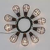 Solar LED-Lichterkette 4,5 m, 10 Käfiglampen warmweiß