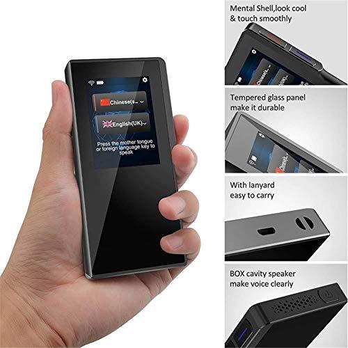 ZPWSNH Sprache, intelligenter Touchscreen für Übersetzung, Touchscreen und Taste, Zungenpresse, tragbar, Flipper Stimme, 52 Sprachen, 2,4 Zoll (Flipper-tasten)