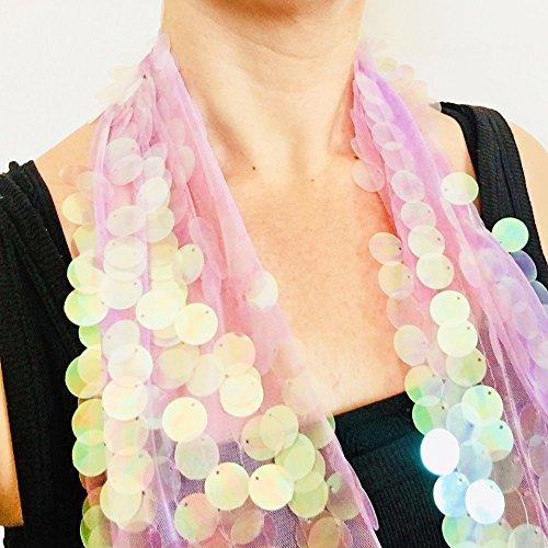 Hologramm Symbol Superstar Schal - Millie Bobby Brown Coachella Glitzer - Pailletten Kleidung - Boho Schal - Frauen Schal - Festival Wrap - Geschenk ihr