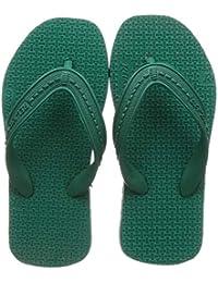 Relaxo Plus Unisex Kid's Grey Black Slippers-13 UK (31.5 EU) (CU0023C_GRBK0013)