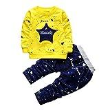 POLP Niño‿2018 Conjunto Otoño Camiseta Manga Larga Hombres,Recién Nacido Bebé Niño Niña Tops Camisas y Pantalones Conjuntos de Ropa Trajes,Camiseta de Hombre Camisetas Deporte Ropa Blusa 2PCS