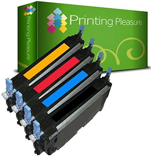 Printing Pleasure 4 Toner Kompatibel zu Q6470A-Q6473A für HP Color Laserjet 3600 3600DN 3600N 3800 3800DN 3800DTN 3800N CP3505 CP3505DN CP3505N CP3505X - Schwarz/Cyan/Magenta/Gelb, Hohe Kapazität (Laser Magenta Q6473a Hp)