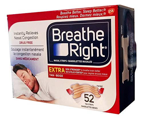 Breathe Right Extra Nasal Strip,(TAN), 52 Strips (Value Pack) -