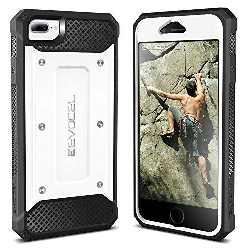 iPhone 7 Plus Case / iPhone 6 Plus Case, Evocel [Explorer Series] Premium Hybrid Protector [Dual Layer][Belt Swivel Clip] For iPhone 7 Plus / iPhone 6 Plus & 6s Plus, Red (EVO-IPH7PLUS-ZZ03) White