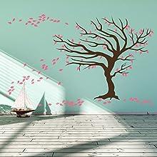El árbol de Navidad en el viento dos tonos - adhesivo de pared