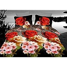Único 3d funda de edredón juego de cama con flores tamaño King 230x 220cm de alta calidad suave tela