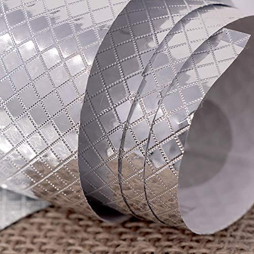 Jinggang Türschrank silber, selbstklebendes Papier Rautenmuster 122cm
