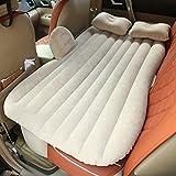 Auto Gonfiabile Air Materasso Sedili Letto Gonfiabile Pad Aria Posteriore Campeggio Viaggio Sleeping Airbed+Pompa Elettrica (beige)